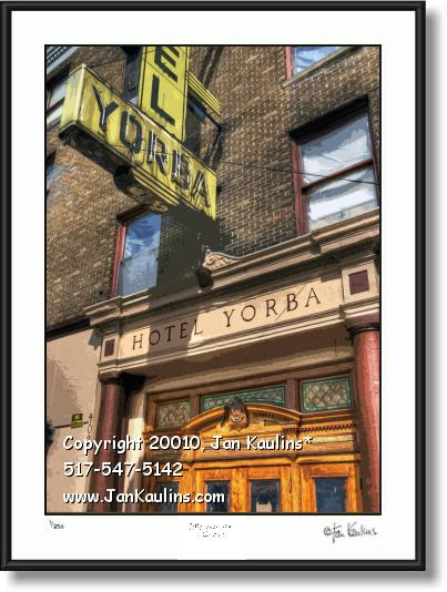 Click on this image to see an enlarged view of HOTEL YORBA photo art print HOTEL YORBA photo.