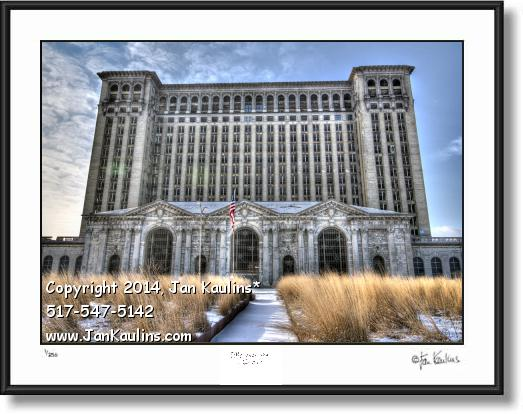 Click on this image to see an enlarged view of MICHIGAN CENTRAL DEPOT Photo Art Print front.