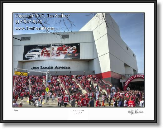 JOE LOUIS ARENA Final Last Game photo print