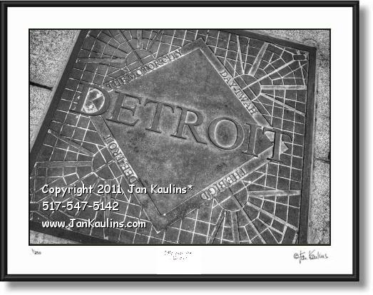 DETROIT THE BIG D  MOTOR CITY manhole cover