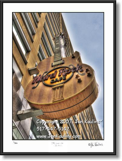 Click on this image to see an enlarged view of HARD ROCK CAFE DETROIT Hard Rock photo print.