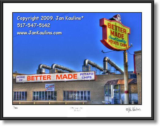 BETTER MADE CHIPS Factory photo art print
