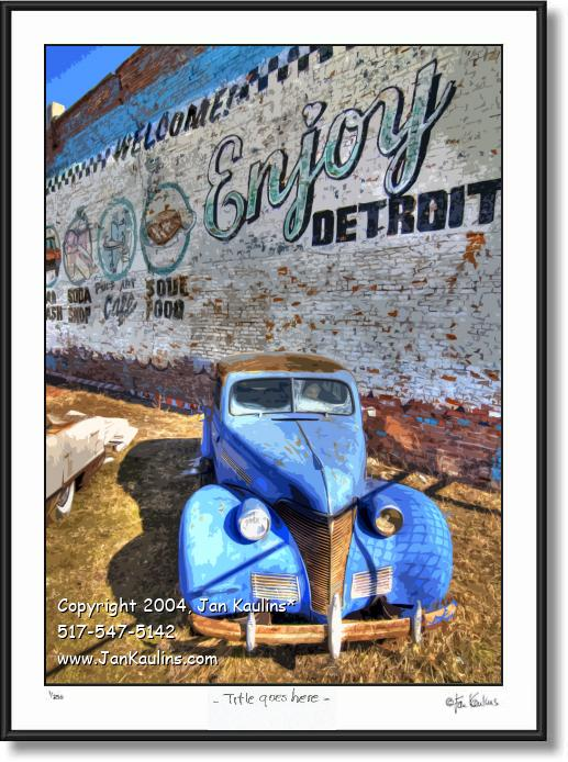 Click on this image to see an enlarged view of ENJOY DETROIT Wall Enjoy Detroit mural photo.