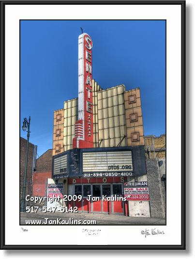 Click on this image to see an enlarged view of SENATE THEATER Detroit photo print old Theater.