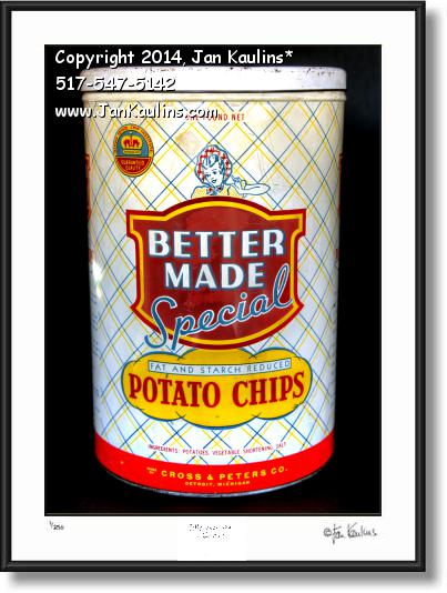 Click on this image to see an enlarged view of BETTER MADE CHIPS CAN photo art print.
