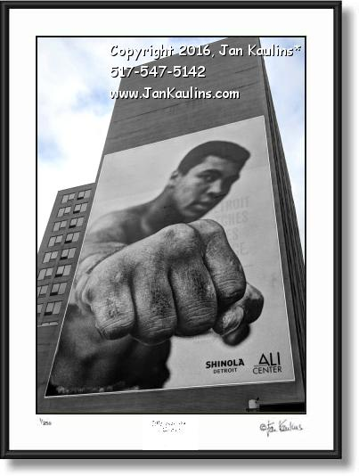 Click on this image to see an enlarged view of Mohammed Ali Detroit Shinola photo art  print.