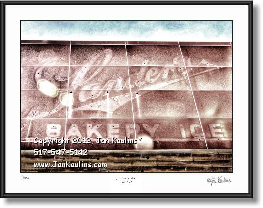 Click on this image to see an enlarged view of SANDER'S ICE CREAM Detroit sign photo art print.