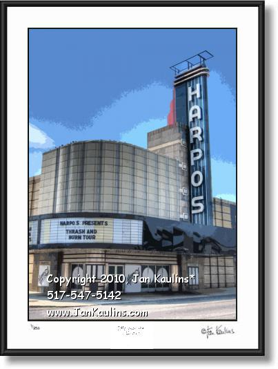 Click on this image to see an enlarged view of HARPOS Detroit Harpos photo art print photos.