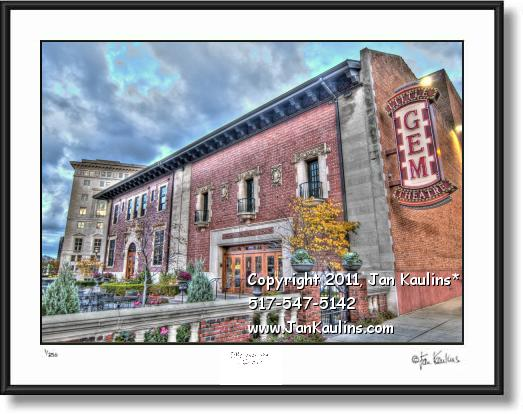 Click on this image to see an enlarged view of GEM THEATER Gem Theater Detroit photo print.