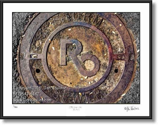 ROYAL OAK manhole cover photo Royal Oak print
