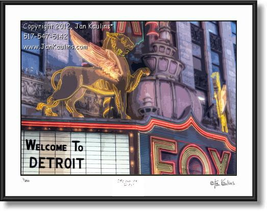Click on this image to see an enlarged view of FOX THEATER Detroit photo picture print photo.
