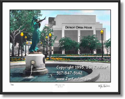 Click on this image to see an enlarged view of DETROIT OPERA HOUSE picture photo art print.