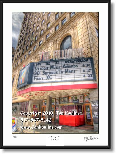 Click on this image to see an enlarged view of FILLMORE THEATRE Detroit art photo art print.