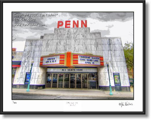 Click on this image to see an enlarged view of PENN THEATER photo art print Plymouth Mi.
