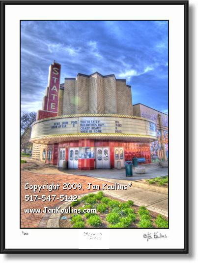 Click on this image to see an enlarged view of STATE THEATRE WAYNE MI photo art print.
