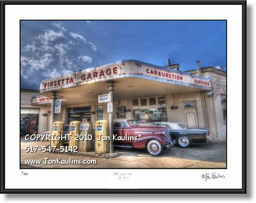 Click on this image to see an enlarged view of VINSETTA GARAGE photo print photo art picture.