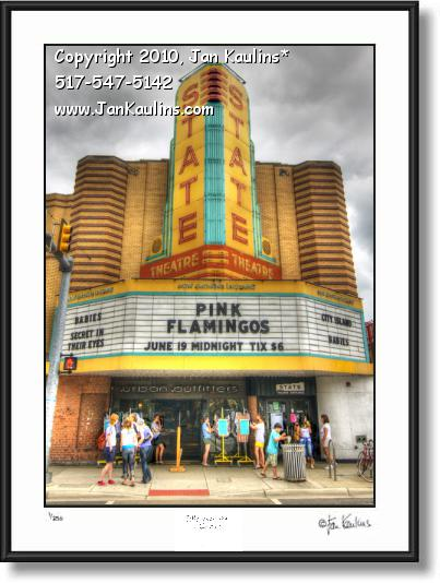 Click on this image to see an enlarged view of STATE THEATER Ann Arbor photo art photo print.