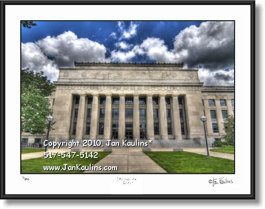 Click on this image to see an enlarged view of UofM Ann Arbor ANGELL HALL art photo art print.