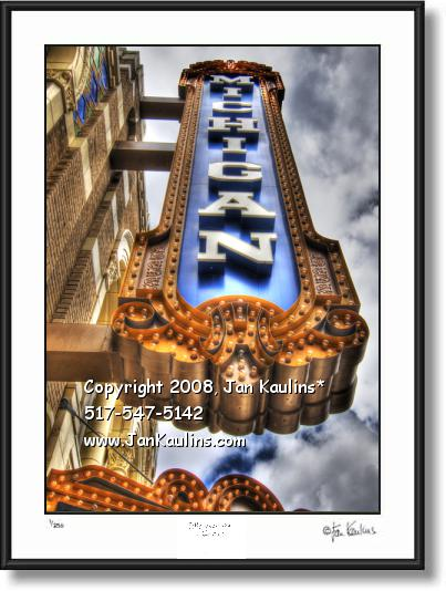Click on this image to see an enlarged view of Michigan Theatre Marquee Ann Arbor photo print.