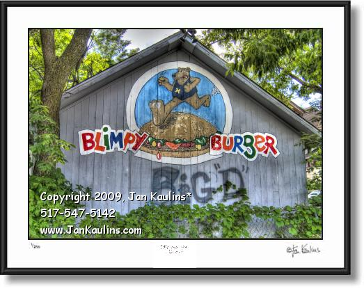 Click on this image to see an enlarged view of BLIMPY BURGER Ann Arbor photo art print photo.