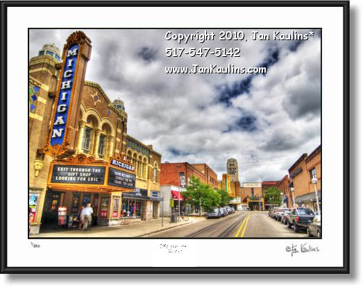 Click on this image to see an enlarged view of Ann Arbor photo art print Liberty St. & State St..