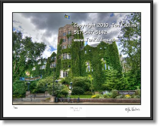 Click on this image to see an enlarged view of MICHIGAN UNION UofM Ann Arbor photo art print.