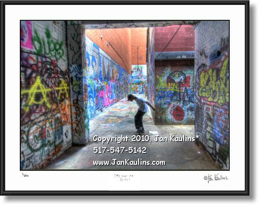 Click on this image to see an enlarged view of Ann Arbor photo art print photo ALLEY DANCER.