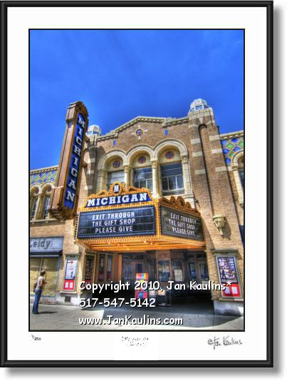 Click on this image to see an enlarged view of MICHIGAN THEATRE Ann Arbor photo art print.