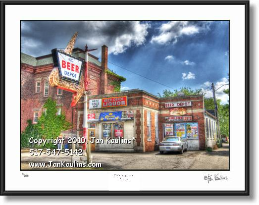 Click on this image to see an enlarged view of ANN ARBOR photo art print picture BEER DEPOT .