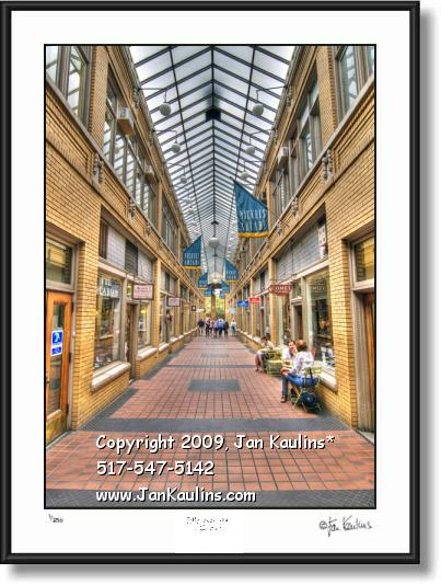 Click on this image to see an enlarged view of NICKELS ARCADE Ann Arbor photo art print.