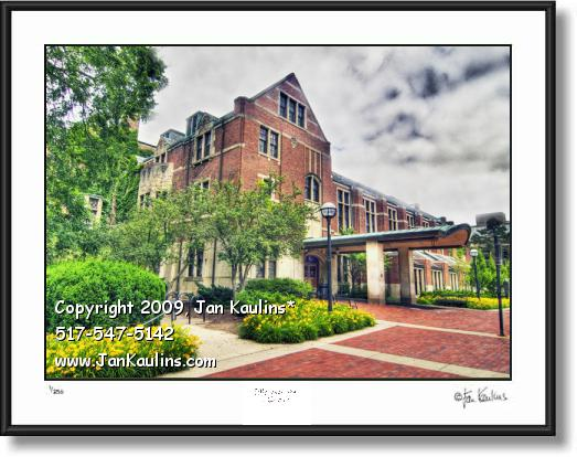 Click on this image to see an enlarged view of Michigan League UofM Ann Arbor photo art print.
