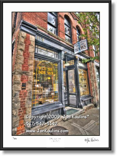 Ann Arbor photo art print West Side Book Store