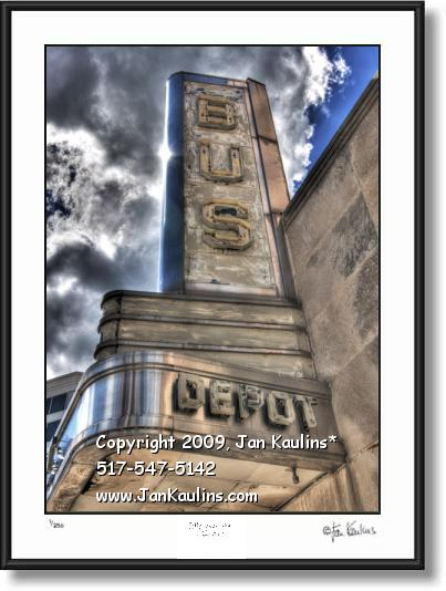 ANN ARBOR BUS DEPOT MARQUEE photo print