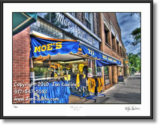 MOE'S SPORT SHOP UofM Ann Arbor photo art