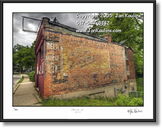 Old Vernors Mural Sign Ann Arbor photo art print