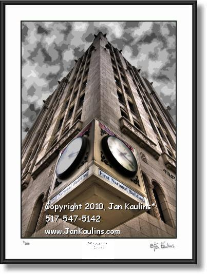 Click on this image to see an enlarged view of FIRST NATIONAL BLDG. Ann Arbor photo art print.