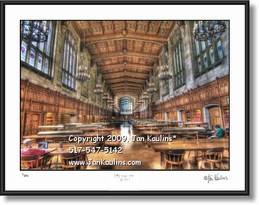 UofM Law School Law Library photo art print