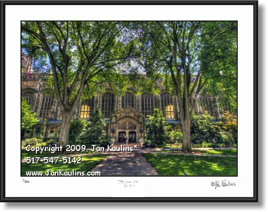 University of Michigan Law Quad photo art print