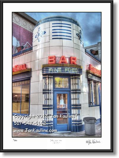 Click on this image to see an enlarged view of ELWOOD BAR & GRILL Detroit photo print photo.