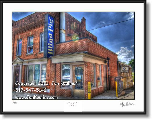 Click on this image to see an enlarged view of BLIND PIG BAR ANN ARBOR photo art print.