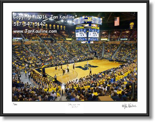 Click on this image to see an enlarged view of UofM CRISLER ARENA Basketball photo print.
