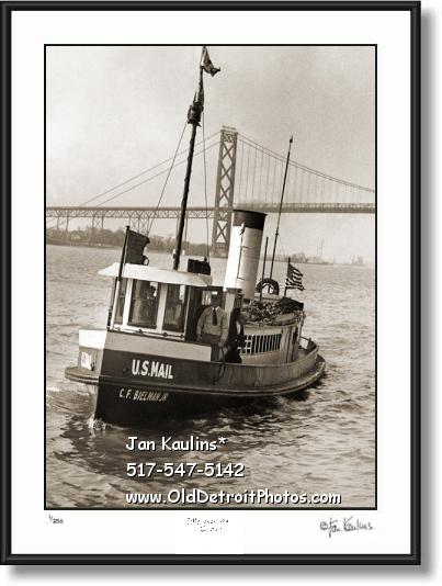 Mail Boat Detroit photo print C.F.BIELMAN JR