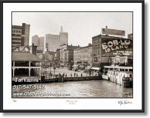 BOB LO ISLAND Dock Detroit 1920's photo print