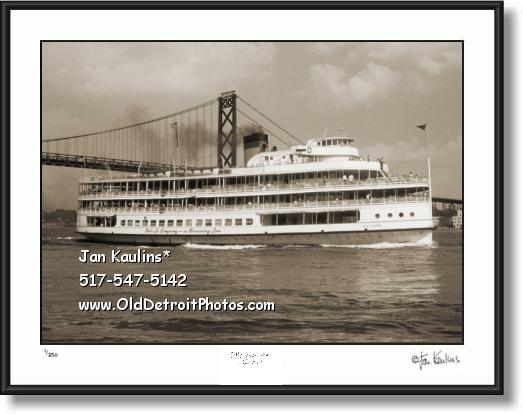 Click on this image to see an enlarged view of BOB-LO BOAT photo art print Bob Lo Boat photo.