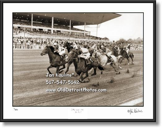 Click on this image to see an enlarged view of DRC DETROIT RACE COURSE D.R.C. photo print.