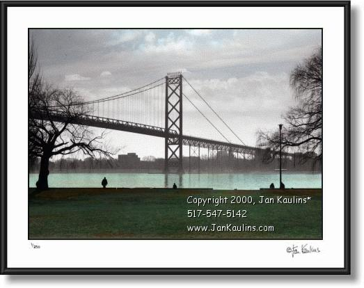 Ambassador Bridge picture photo art Detroit art