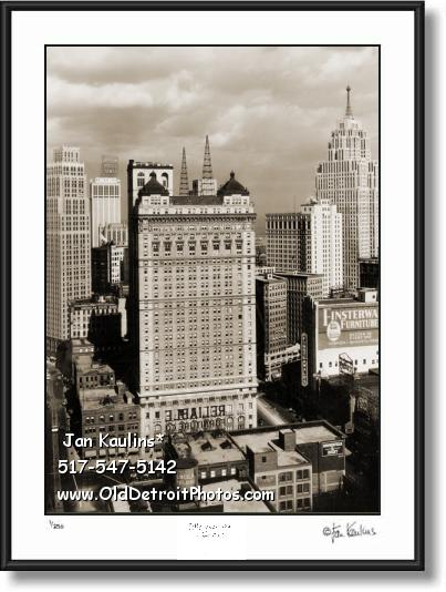 BOOK-CADILLAC HOTEL old Detroit photo print