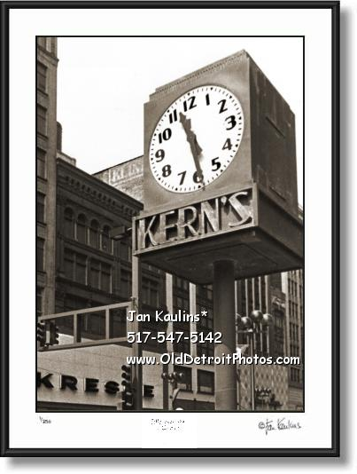 KERN'S CLOCK Detroit Kern's Clock photo print