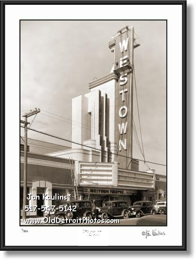 OLD DETROIT WESTOWN THEATER photo print