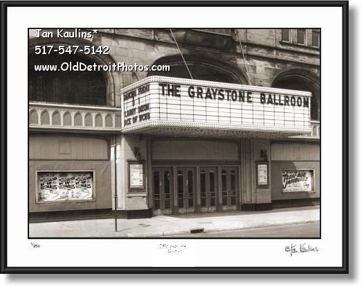 GRAYSTONE BALLROOM Detroit photo print